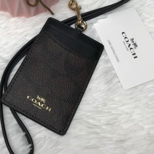 NWT Coach ID Lanyard In Signature Canvas